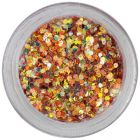 Decoraţiune în pulbere arămie - hexagoane 1mm