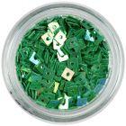 Pătrate decorative cu gaură - verde smarald