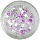 Confetti în forma unor flori mici - sidefate