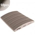 50buc - Pilă unghii - Profi Speedy Halfmoon zebra cu centru negru 150/150