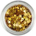 Confetti în forma unor flori mici - aurii