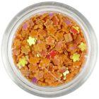 Confetti în forma unor flori mici - portocalii