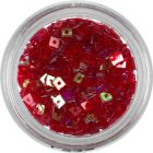 Pătrat roșu - decorațiune nail art transparentă, cu gaură