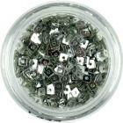 Mici pătrate cu gaură - argintii