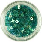 Mici pătrate cu gaură - verde turcoaz