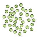Decorațiuni verzi pentru unghii, 1 mm - strasuri rotunde în săculeț, 60 buc