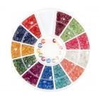 Decorațiuni nail art – strasuri diamante – diverse culori, 3mm