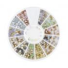 Decorațiuni nail art – strasuri diamante 2 și 3mm – diverse culori cu luciu de opal