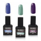 Inginails Professional – Dry gel polish set, 3pcs