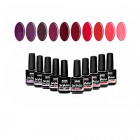 SET Red mare: 10bucăți de geluri UV colorate