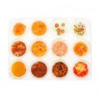 Kit nail art, 12 bucăți – portocaliu