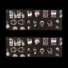 Folie decorativă pentru unghii - holografică cu motive de schelet