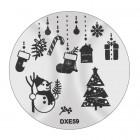 Șablon ștampilare DXE59 - Christmas