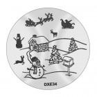 Șablon ștampilare DXE34 - Christmas
