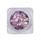 Decoratiuni pentru unghii - hexagon - violet inchis