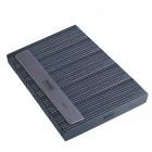 50buc - Pilă de unghii, placă gri cu centru negru. Lavabil și dezinfectant 80/80