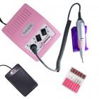 Freză electrică de unghii cu control al vitezei de rotație - roz