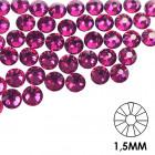 Pietre decorative pentru unghii - 1,5 mm - roz, 50 buc