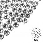 Pietre decorative pentru unghii - MIX - argintiu, 50buc
