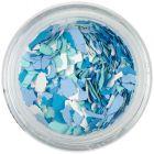 Fulgi din confetti cu o formă neregulată - alb, verde, albastru