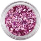 Confetti lacrimă - roz cu aspect învechit, hologramă