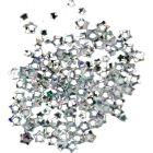 Stele nail art argintii, hologramă