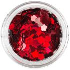 Confetti floare - roşu flacără
