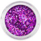 Hexagoane decorative 1mm - efect holografic, violet