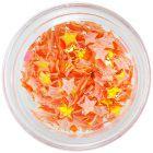 Stele din material - decoraţiuni portocaliu opalescent