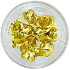Trandafiri aurii din ceramică, 10 buc