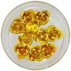 Ornamente pentru unghii – galben-aurii, 10 buc