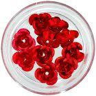 Decorațiuni ceramice pentru unghii - trandafiri roșii, 10 buc