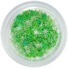 Flori din material pentru decorarea unghiilor - verzi, mici