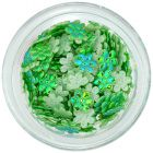 Flori din material – verzi sidefii
