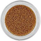 Perle maro deschis pentru unghii, 0,5mm
