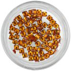Strasuri pătrate - portocalii