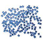 Ștrasuri pentru unghii - pătrate, 140 bucăți albastre