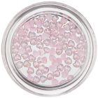 Inimi decorative cu efect perlat - roz deschis