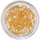 Decorațiuni perlate în formă de semilună - portocaliu-galben