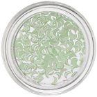 Decorațiuni perlate în formă de semilună - verde-deschis