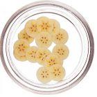 Banane fimo tăiate pentru decorarea unghiilor